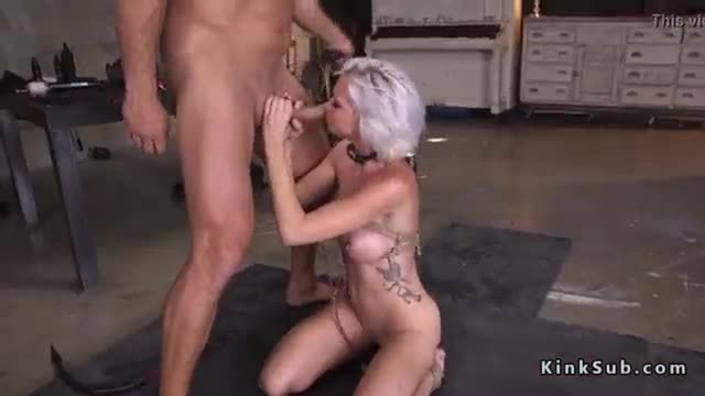 Big tits slave fucked with huge dick