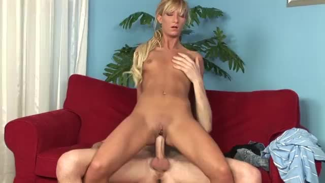 Horny blonde riding and fucked