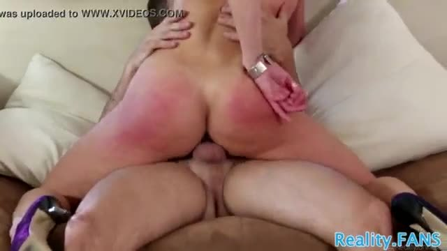 Cougar stepmom rides and sucks younger cock